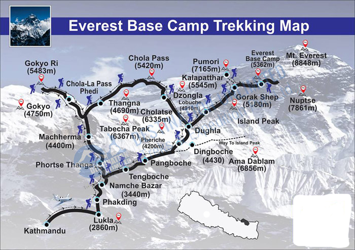 map of ktm nepal with Everest High Passes Trek on Nepal Nep further Everest with highpass trekking moreover Capitalkathmandu together with Ktm pokhara as well Nepal District Map.